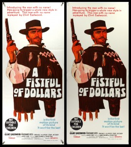 Fistful of Dollars (Australian Daybill) - Before & After