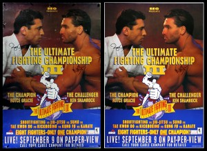 035A – Ultimate Fighter III (PPV Poster w/Autos) Before & After